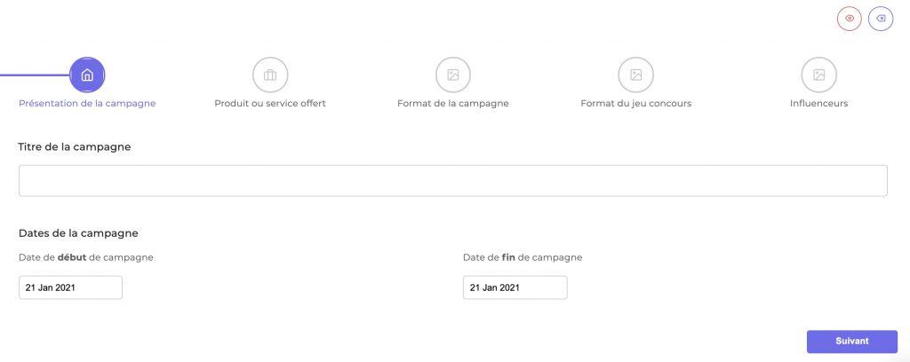 Influentia Automated Présentation de la campagne